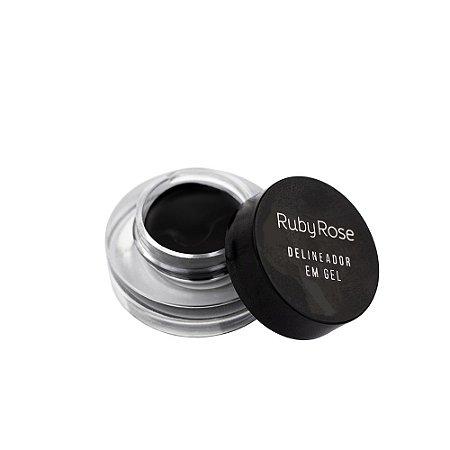 Delineador em Gel Black - HB 8401 - Ruby Rose