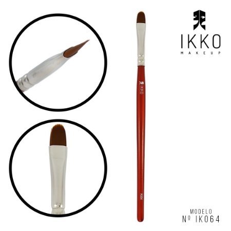 Pincel 81064 (IK064) - IKKO Makeup - Linha Vermelha