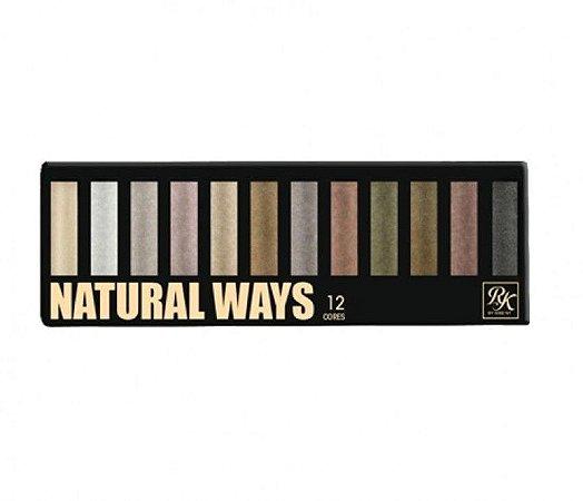 Paleta de sombras NATURAL WAYS 12 cores - KISS NY