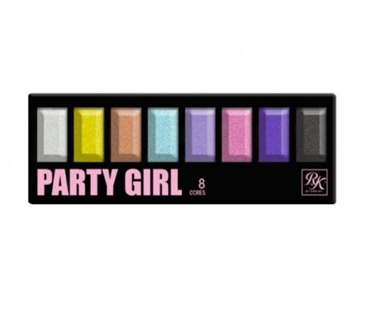PALETA DE SOMBRAS 8 CORES PARTY GIRL RK - KISS NEW YORK