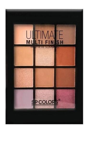 Paleta De Sombras Ultimate Multi Finish A 12 Cores - Sp Colors PROMOÇÃO