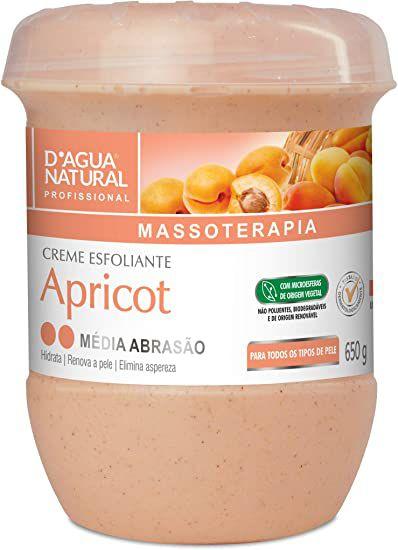 Creme Esfoliante Apricot Média Abrasão 650g - D'Água Natural