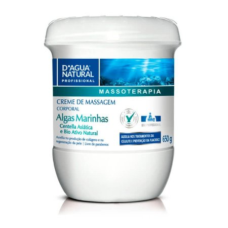 Creme Massagem Corporal Algas Marinhas 650g - D'Água Natural