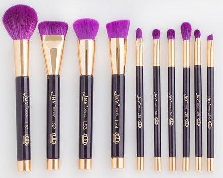 PROMOÇÃO - Kit de Pincéis Queen Luv - 10 pincéis profissionais para maquiagem - Edição Limitada