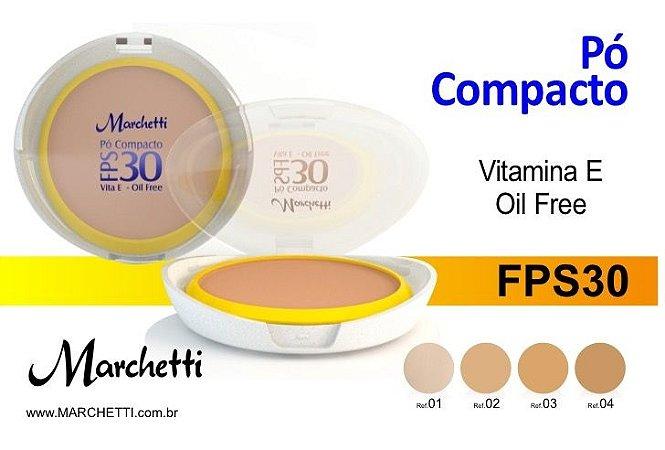 PÓ COMPACTO FPS 30 VITAMINA E OIL FREE MARCHETTI