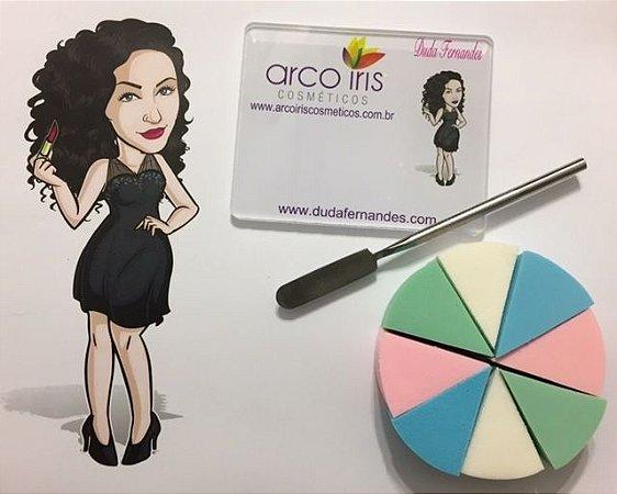 Kit para Maquiagem  DUDA FERNANDES ( Placa do Maquiador + Espátula + Esponja Facial )