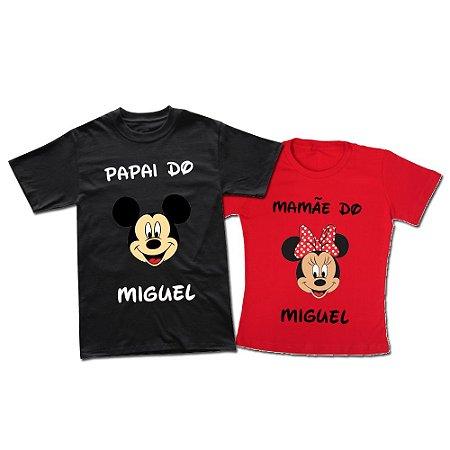 a6dd8605cb84 Kit Família Personalizado Pai e Mãe Mickey e Minnie - Espaço QK