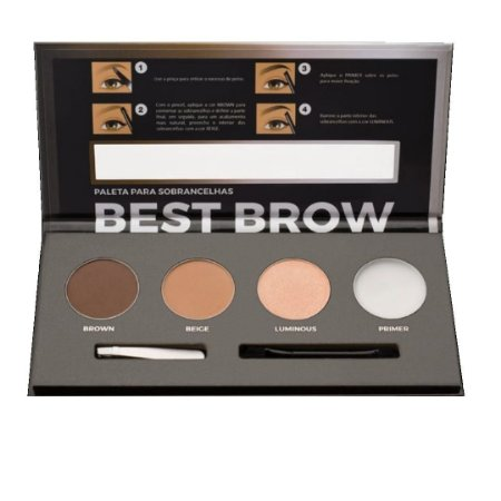 Paleta para Sobrancelhas Best Brown - Mia Make Pro