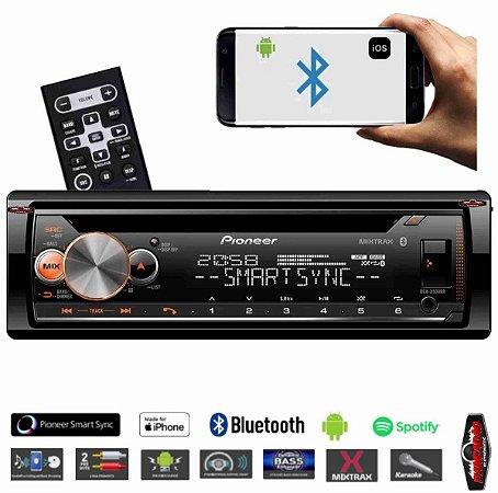 Cd Automotivo Pioneer Deh-x500br Bluetooth Mixtrax