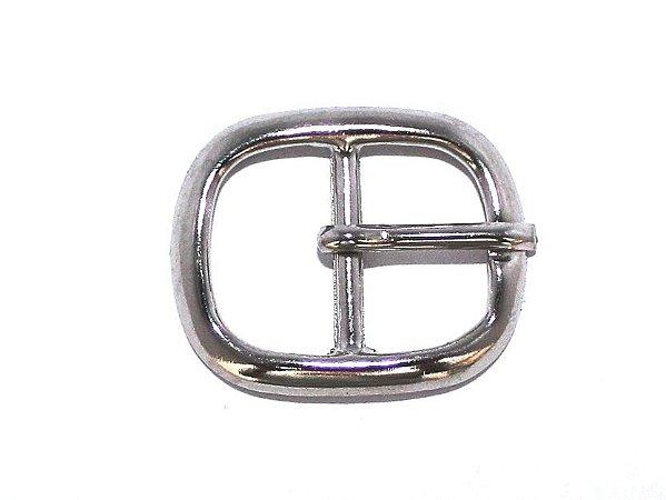 Fivela 15 - Pequena - Simples - Niquelada - 16 mm