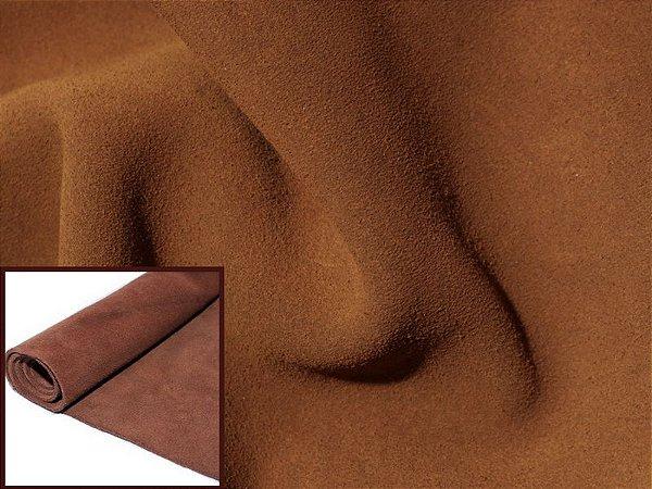 Rolos de Camurça Bovina - Cor: Caramelo - 1.2 mm