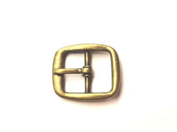 Fivela 35 - Niquelada/Ouro Velho - 18 mm