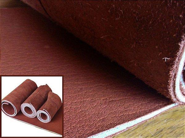 Rolos de Sola Cromo de Búfalo - Cor: Pinhão - 4.0/6.0 mm