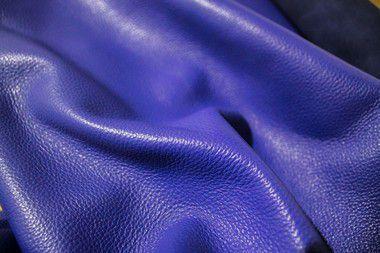 Rolos de Couro Vaqueta Relax - Cor: Azul - 1.2/1.4mm