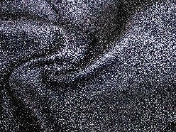 Couro Linha Brut - Cor: Preto fosco - 1.0/1.4 mm