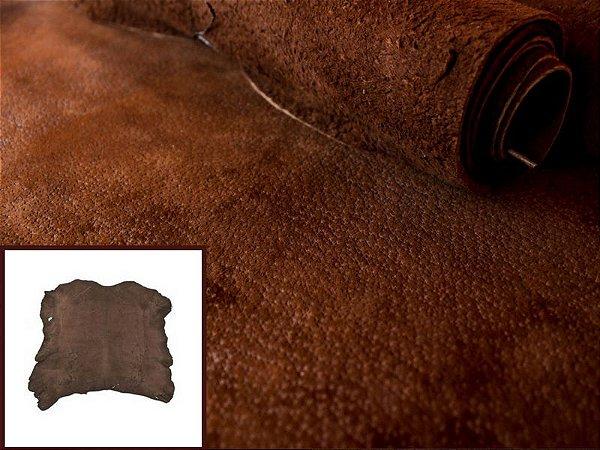 Nobuck de Porco tipo Javali - Cor: Castor - 1.4/1.8 mm