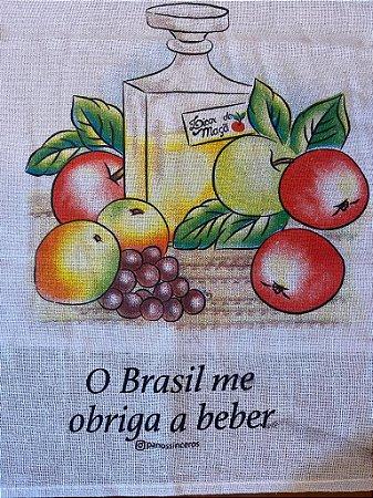 O Brasil me obriga - SALDÃO - Frase borrada