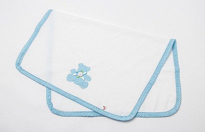 Cobertor para Boneca Bolinha Azul - Cantinho da Boneca