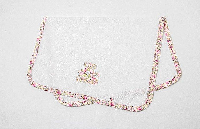 Cobertor para Boneca Floral - Cantinho da Boneca