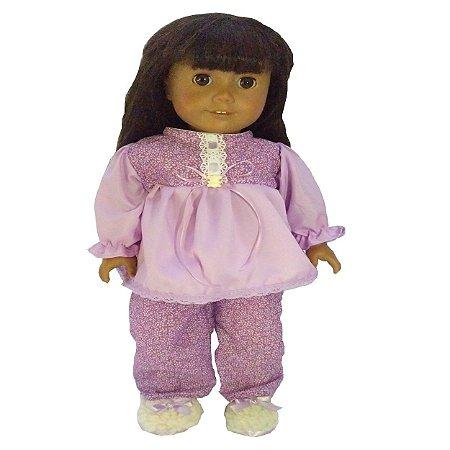 Roupa para Boneca - Kit Pijama - Veste Bonecas tipo American Girl e Our Generation - Cantinho da Boneca