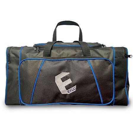 Mala em nylon preto com azul EX1041