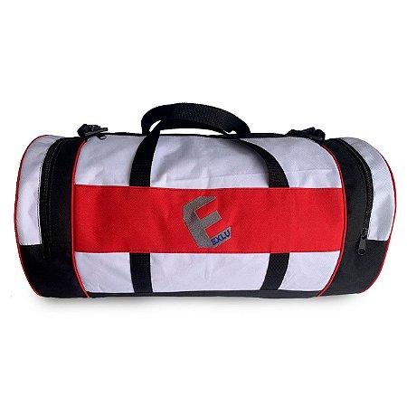 Mala em nylon preta vermelha e branca EX1044