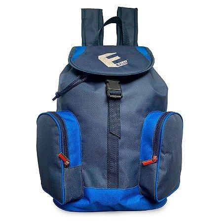Mochila em nylon azul EX1058