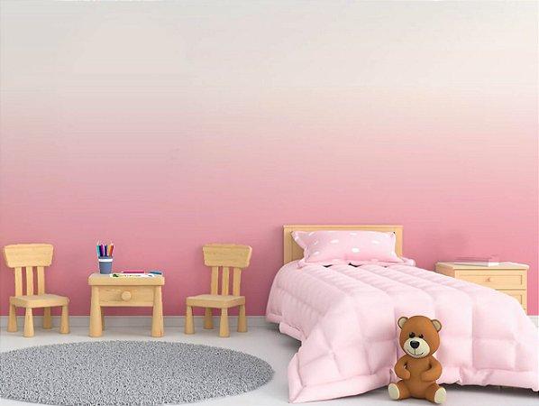 Papel de Parede Adesivo Degradê Branco e Rosa