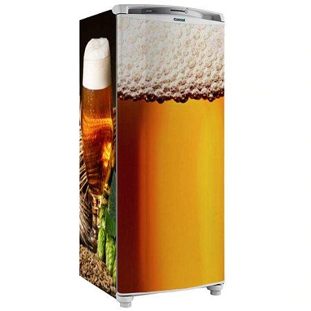 Adesivo Envelopamento Geladeira Copo Cerveja