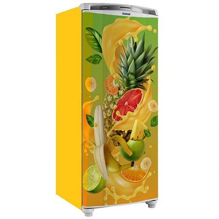 Adesivo Envelopamento Geladeira Frutas