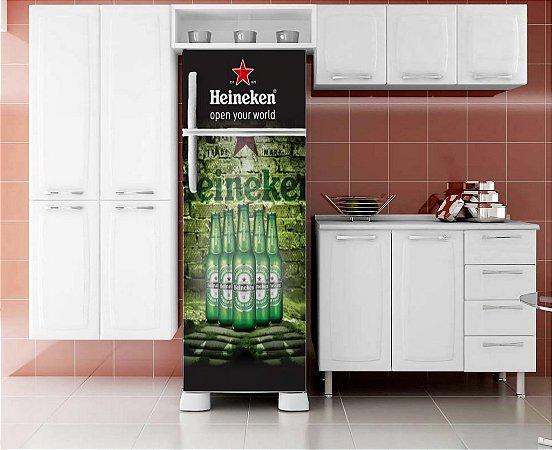 Adesivo Envelopamento Geladeira Heineken