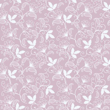 Papel de Parede Adesivo - Floral Flores Delicadas Rosa Quartz
