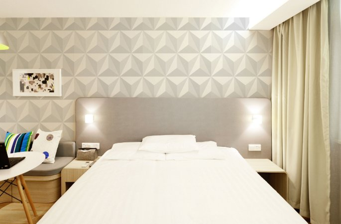 Papel de Parede Adesivo 3D - Gesso Triângulos Branco Dreams
