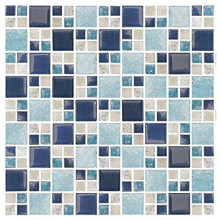 Papel de Parede Adesivo Pastilha Azul - Blue Ice