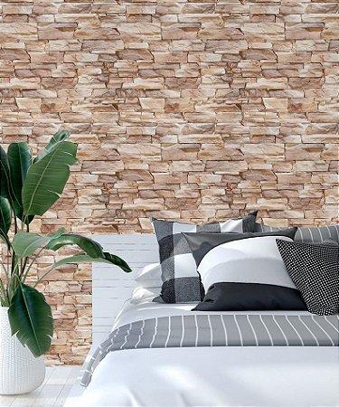 Papel de Parede Adesivo 3D - Tijolinho - Pedra Nobre
