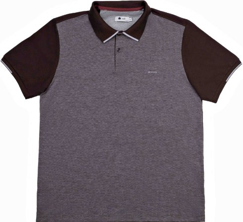 POLO MASCULINA PIQUET MARROM COFFEE BEAN