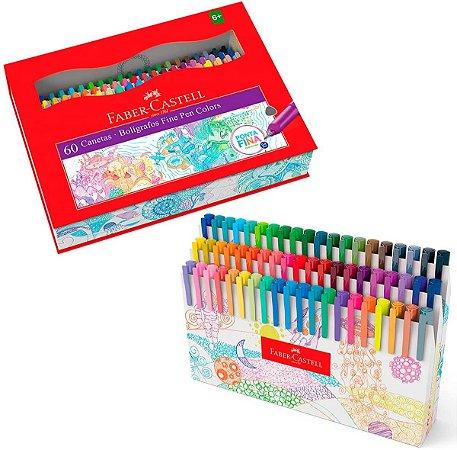 Caneta Fine Pen 60 Cores Faber Castell