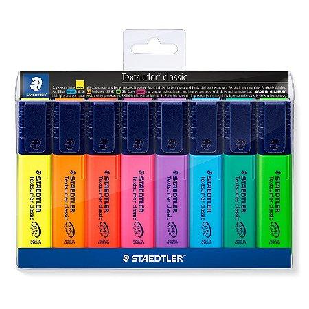 Marca Texto Textsurfer Classic 364 8 Cores Neon Staedtler