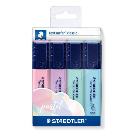 Marca Texto Textsurfer Classic 4 Cores Tom Pastel 364 CWP4PA Staedtler