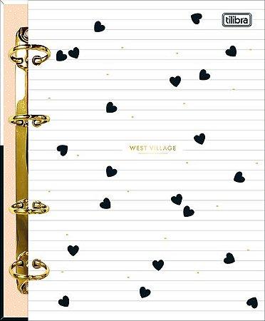 Caderno Argolado Fichário Colegial Cartonado West Village Tilibra