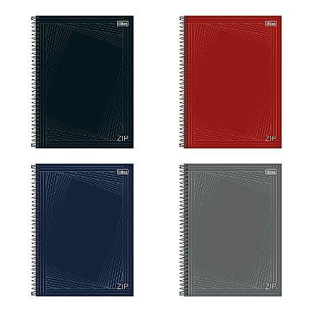 Caderno Zip Universitário A4 1 Matéria 80 Folhas Colorido Tilibra