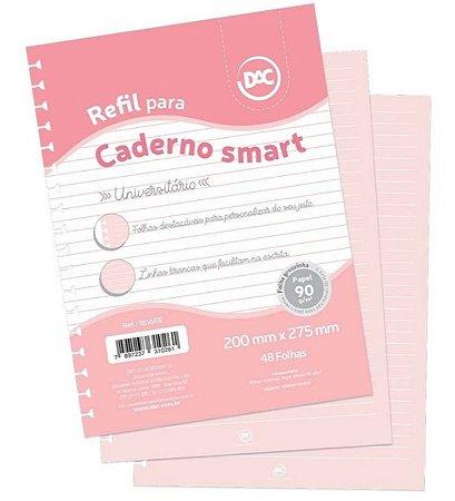 Refil Universitário A4 48 Fls Linhas Brancas Para Cadernos Smart Dac