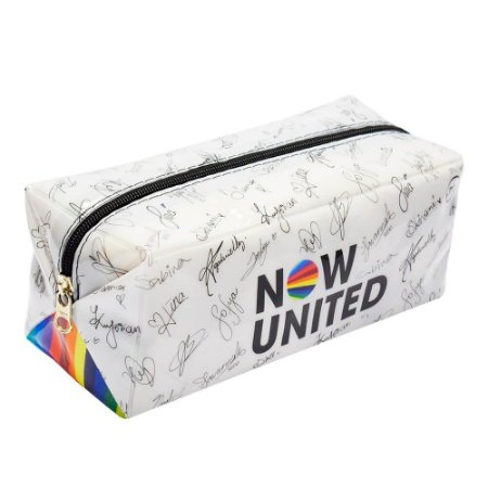 Estojo Escolar Grande PVC Now United Branco - Dac