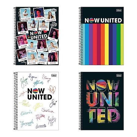 Caderno Universitário 1 Matéria 80 Folhas Now United Tilibra