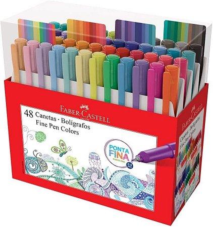 Caneta Fine Pen Faber Castell - 48 Cores