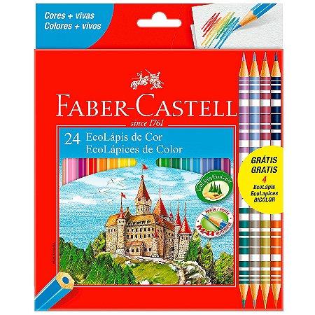 Lápis De Cor Faber Castell - 24 Cores