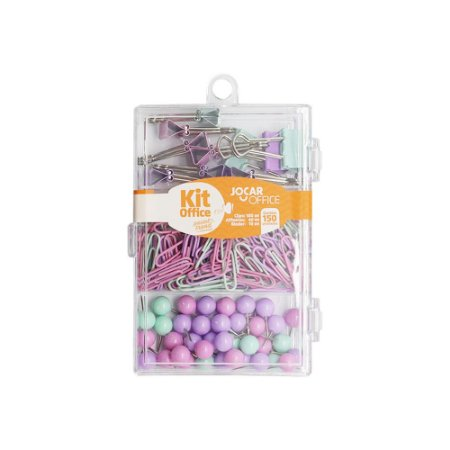 Kit Office Jocar Pastel Trend – 150 Itens