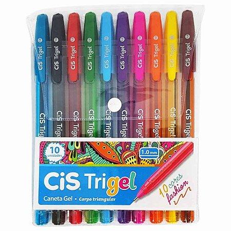 Caneta Em Gel Cis Trigel Fashion - 10 Cores