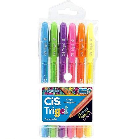 Caneta Em Gel Cis Trigel Neon - 6 Cores