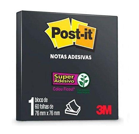 Bloco Adesivo Post-it Preto 76x76 - 60 Folhas
